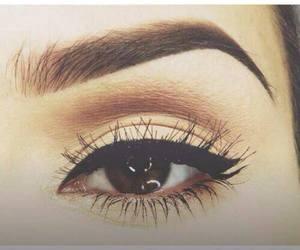 makeup, eyebrows, and eye image