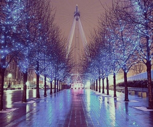 london, light, and london eye image
