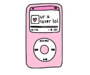 loser, ipod, and pink image