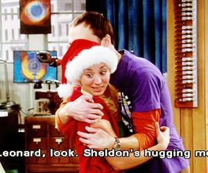 the big bang theory, christmas, and hug image