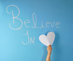 love, heart, and believe image