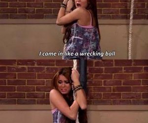 funny, miley cyrus, and wrecking ball image