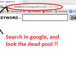 deadpool link, search in google, and write the password image