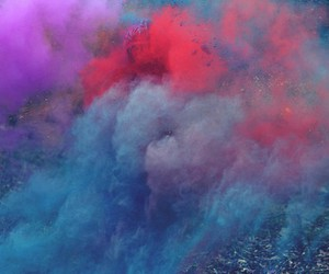 colors, smoke, and blue image