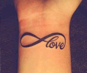 love, tattoo, and infinity image