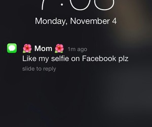mom, funny, and selfie image