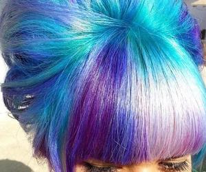 hair, bangs, and dyed hair image