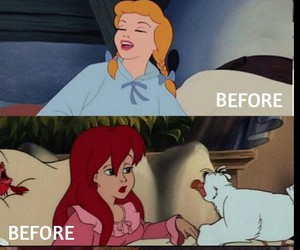 after, ariel, and disney image