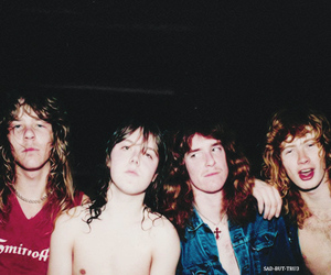 metallica, dave mustaine, and James Hetfield image