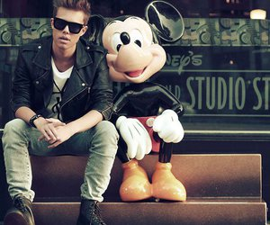 boy, mickey mouse, and mickey image