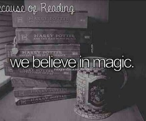 harry potter and because of reading image