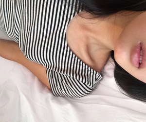 girl, lips, and pale image