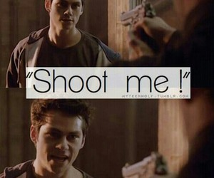 gun, dylan o'brien, and teen wolf image