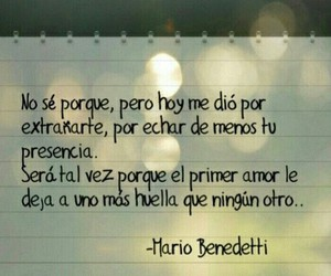 mario benedetti, frases, and love image