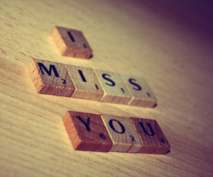 i miss you, scrabble, and text image