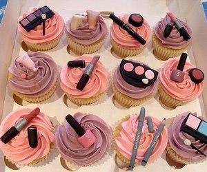 cupcake, food, and make up image