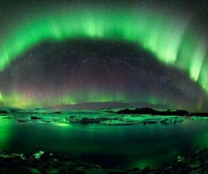 green, sky, and aurora image