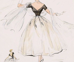 dress, grace kelly, and sketch image