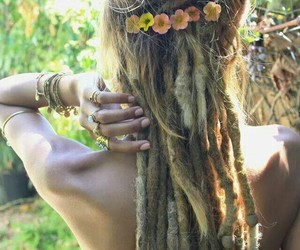 hair, dreads, and girl image