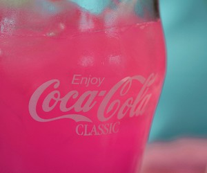 drink, coca cola, and pink image