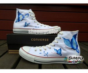 butterfly, creative, and fashion shoes image