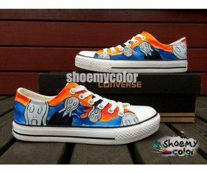 fashion shoes, scream, and converse shoes image