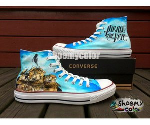 fashion shoes, pierce the veil, and converse shoes image