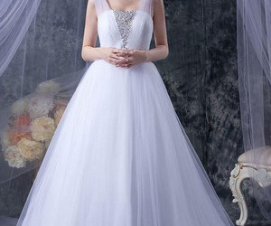 fashion, wedding dress, and women image