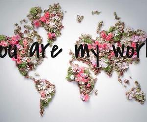 world, flowers, and love image