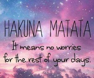 hakuna matata, quotes, and no worries image