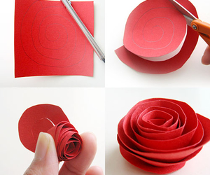 rose, diy, and red image