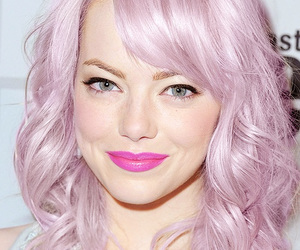 emma stone, hair, and makeup image