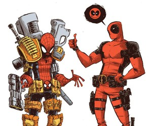 Marvel, spiderman, and deadpool image