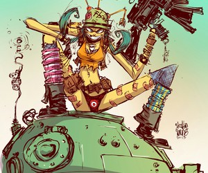 tank girl and skottie young image