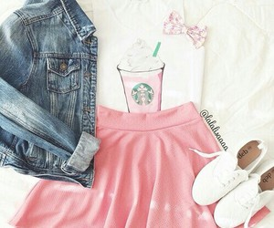 fashion, starbucks, and pink image