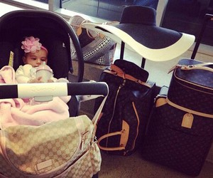 baby, baby girl, and valise image
