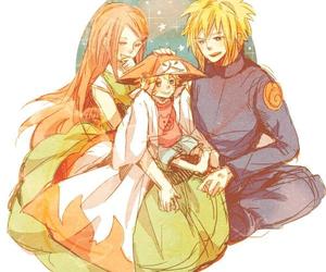 kushina and minato and naruto image