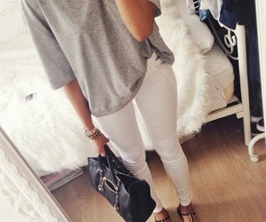 fashion, outfit, and high heels image