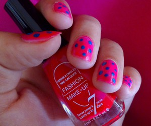 fluo, nail art, and ongles image