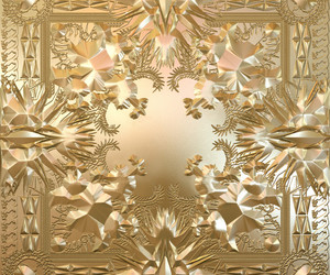 kanye west, gold, and jay z image