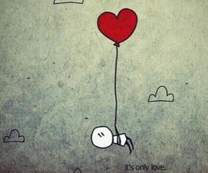 love, heart, and balloon image