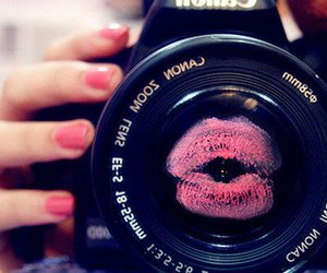 kiss, camera, and pink image