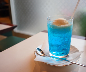beautiful, blue, and cafe image