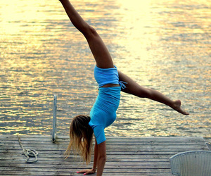 girl, summer, and fitness image