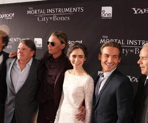 Jamie Campbell Bower, Kevin Zegers, and lily collins image