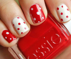 nails, white, and red image