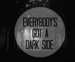 dark, dark side, and black image