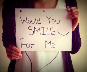 please, smile, and would image