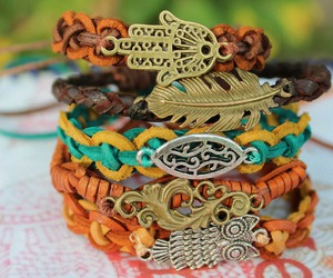 bracelet, hippie, and style image