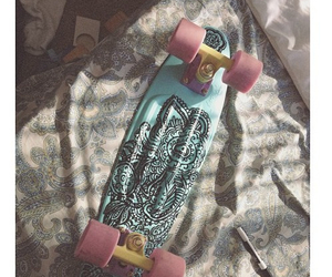skateboard, penny board, and acacia clark image
